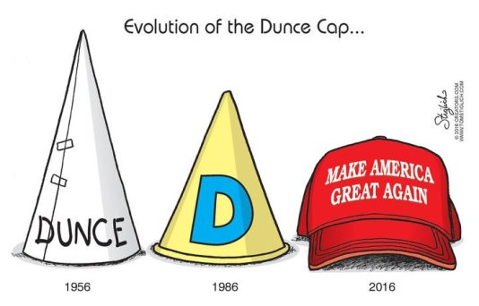 Image result for donald trump dunce