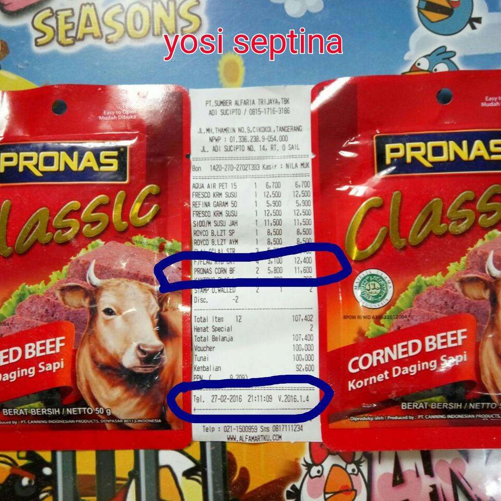 Bukticintapronas Hashtag On Twitter Corned Beef Pronas Sachet 0 Replies 1 Retweet Like