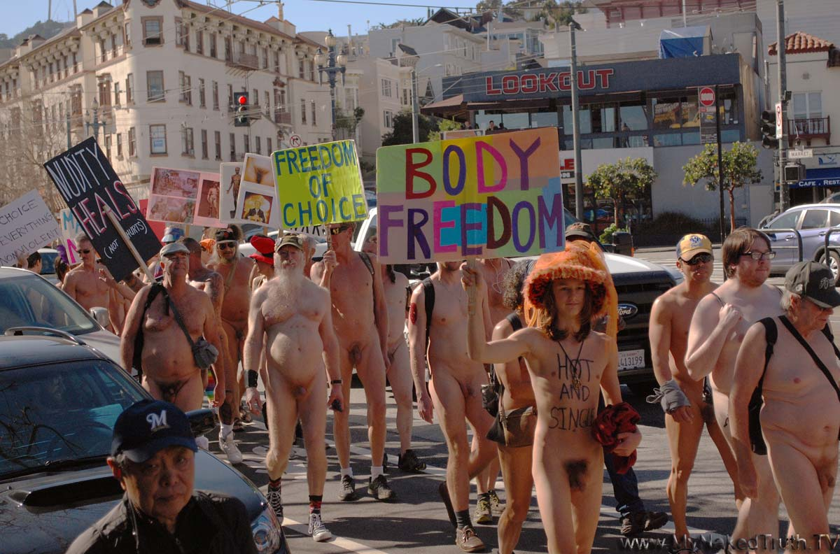 Celebrating national nude day in san francisco