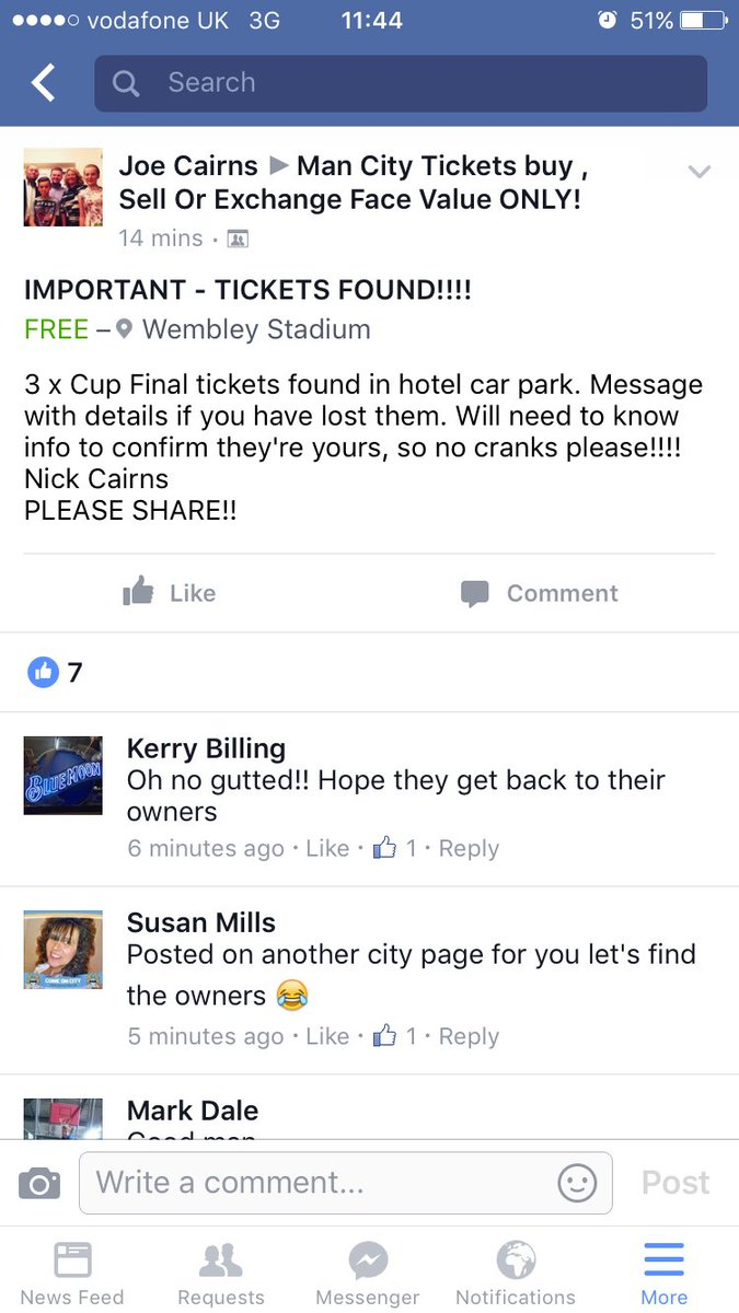 Have just seen this on FB. Please RT! #mcfc #cityatwembley #CapitalOneCupFinal https://t.co/n5XxB3RHJ3
