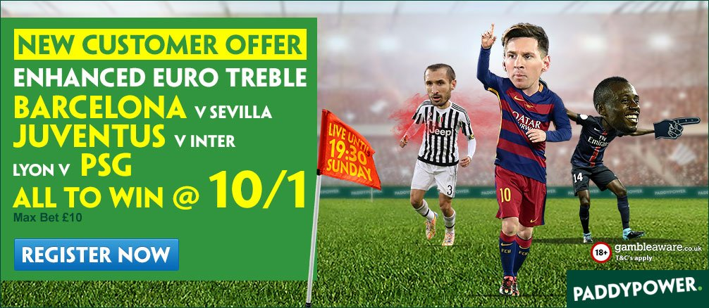 Paddy Power Enhanced treble