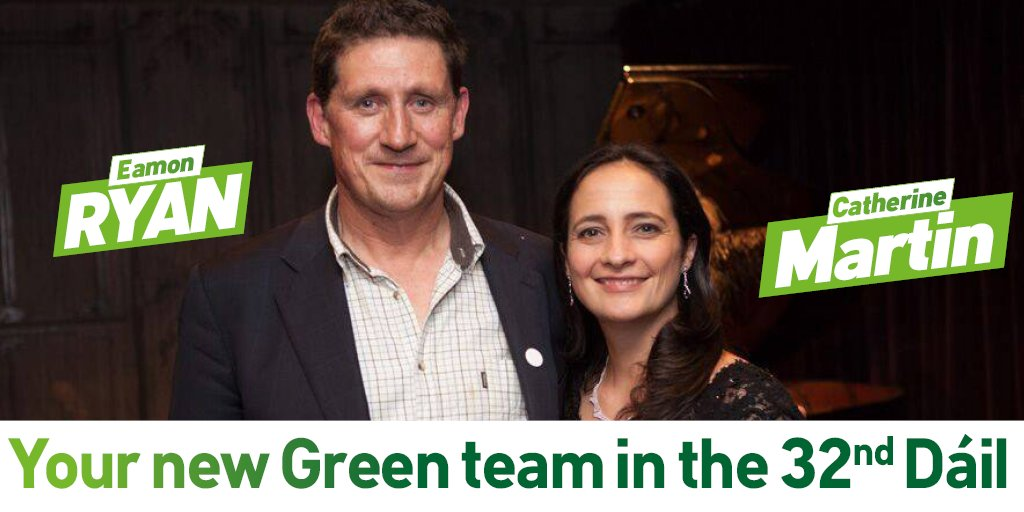 A strong Green Voice back in the Dáil! Thank you everyone for your amazing support! #VoteGreen2016 #GreenWave #GE16 https://t.co/fNmJFoN0aZ