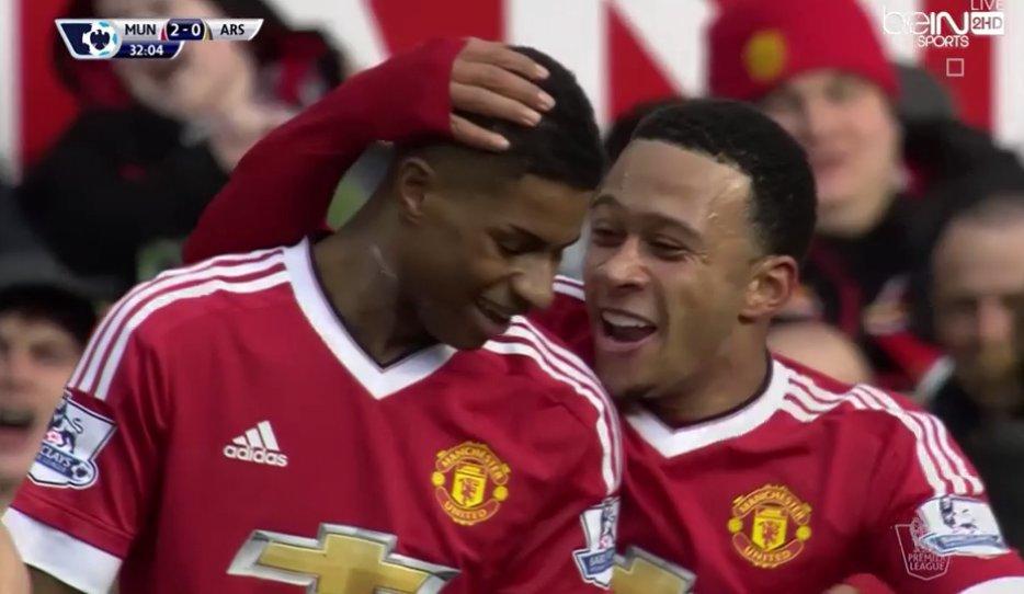 """فيديو"""" مانشستر يونايتد يبعد آرسنال عن منافسة الدورى الانجليزى بعد الفوز 3-2 اهداف مباراة مانشستر يونايتد وآرسنال"""