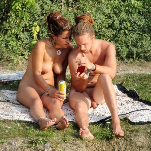 hairy nude beach couple