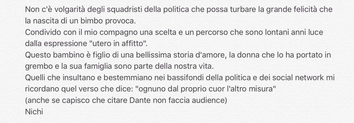 """""""Quelli che...."""" Ecco quello che penso. #Vendola #unionicivili #amore https://t.co/PWPOUrjBs9"""