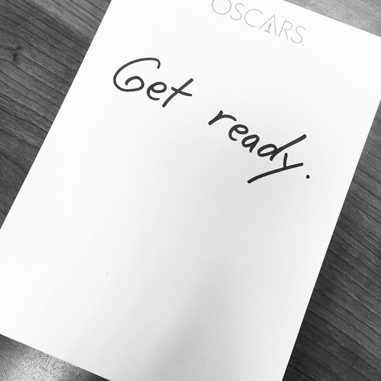 Get Ready... #oscars https://t.co/VgNqyBiVP4