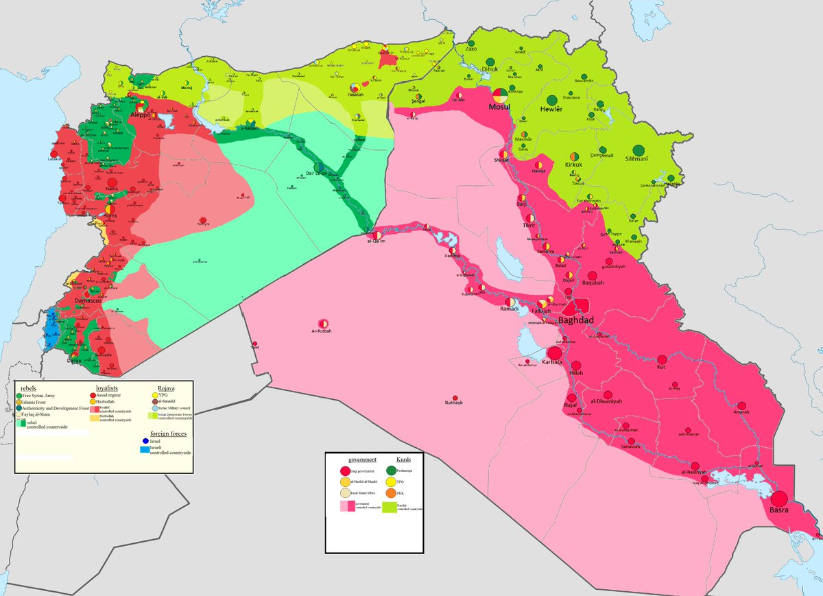 thomas van linge on twitter syriairaq map prediction situation in syria iraq after defeat of daesh jn bigger httpstcoyobzpilhx5