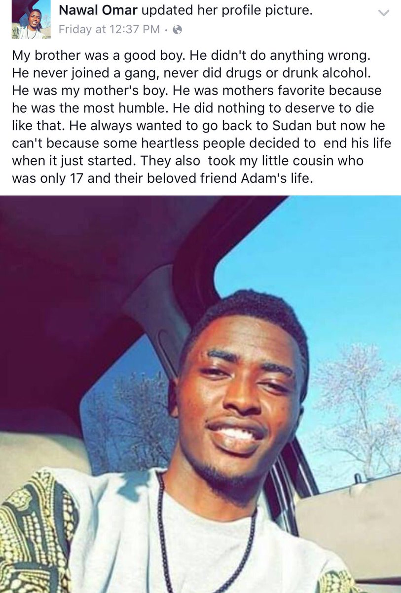 The sister of one of #OurThreeBoys shared a post about her brother, Mohamedtaha Omar, who was horrifically killed. https://t.co/nLMryGVjSz