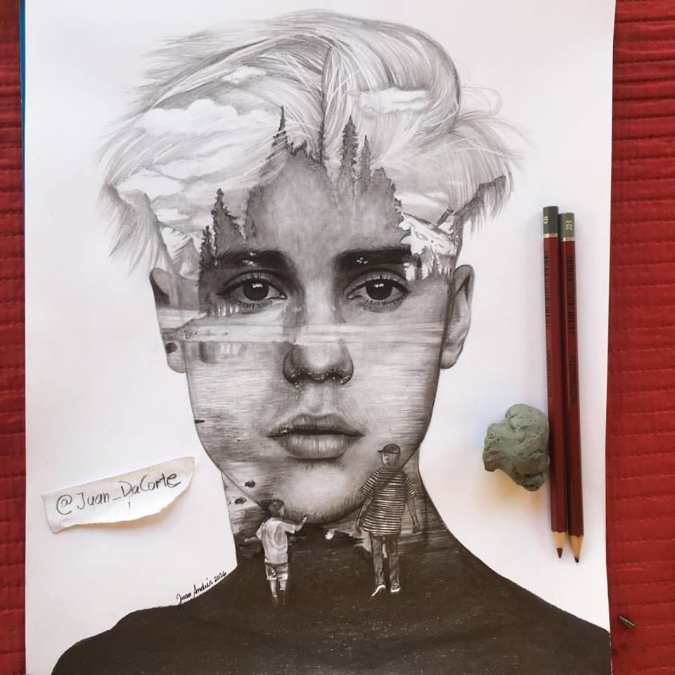 To celebrate his 22 i decided 2 make this drawing i hope U like it guys! ;) #HappyBirthdayJustinBieber @justinbieber https://t.co/pbVmM0xGKu