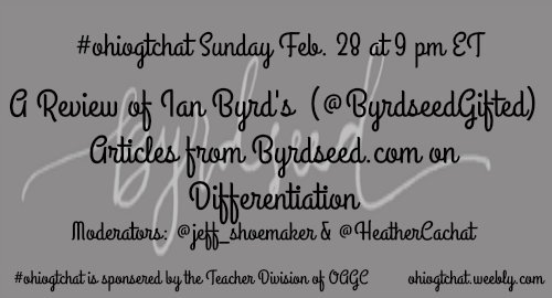 Thumbnail for #ohiogtchat Feb 28: Differentiation