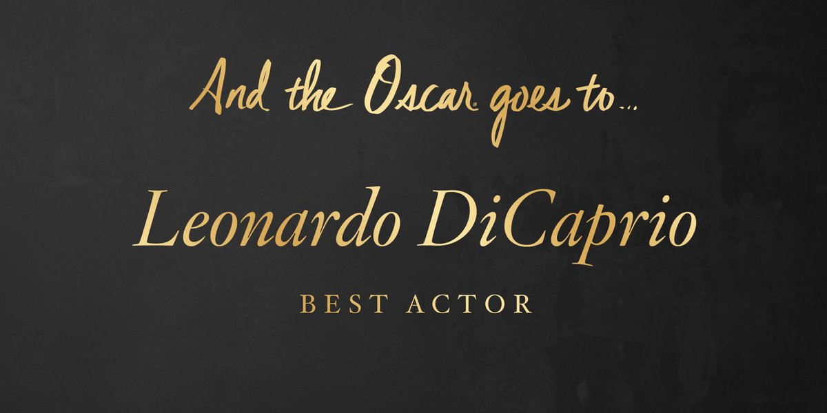 The #Oscar for Actor in a Leading Role goes to…