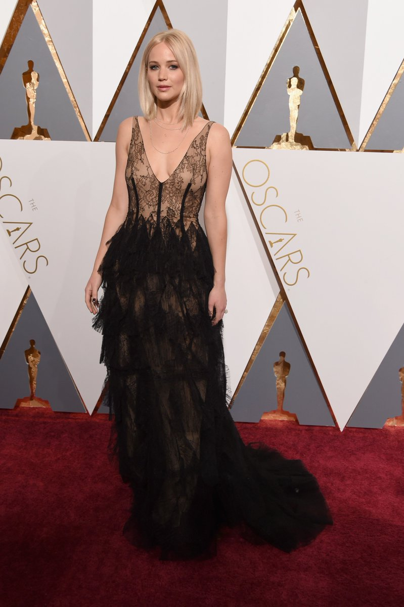 Jennifer Lawrence owned the red carpet in #Diorcouture at the 88th annual Academy Awards. #StarsinDior #Oscars
