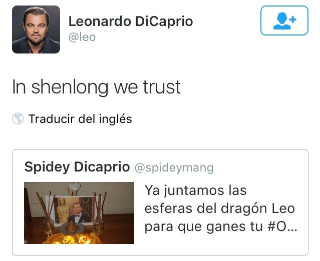 Cuando Leo confía en ShenLong y las esferas del dragón #Oscars