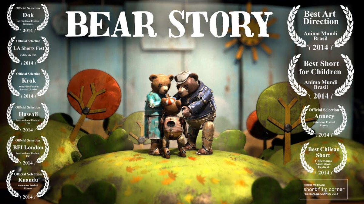 Mejor corto animado: Historia de un oso. Primer #Oscars para Chile!  #KinokiFest2016 https://t.co/Mv1ste3xEP