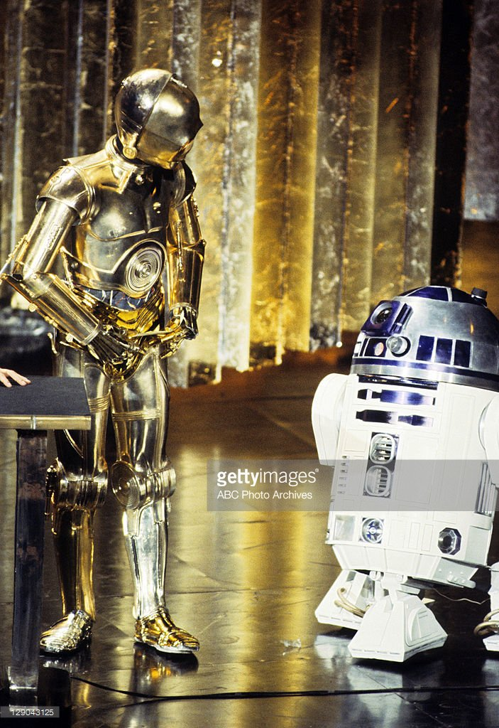 Just like in 1978...Droids! #Oscars https://t.co/WTO6JSKlbZ