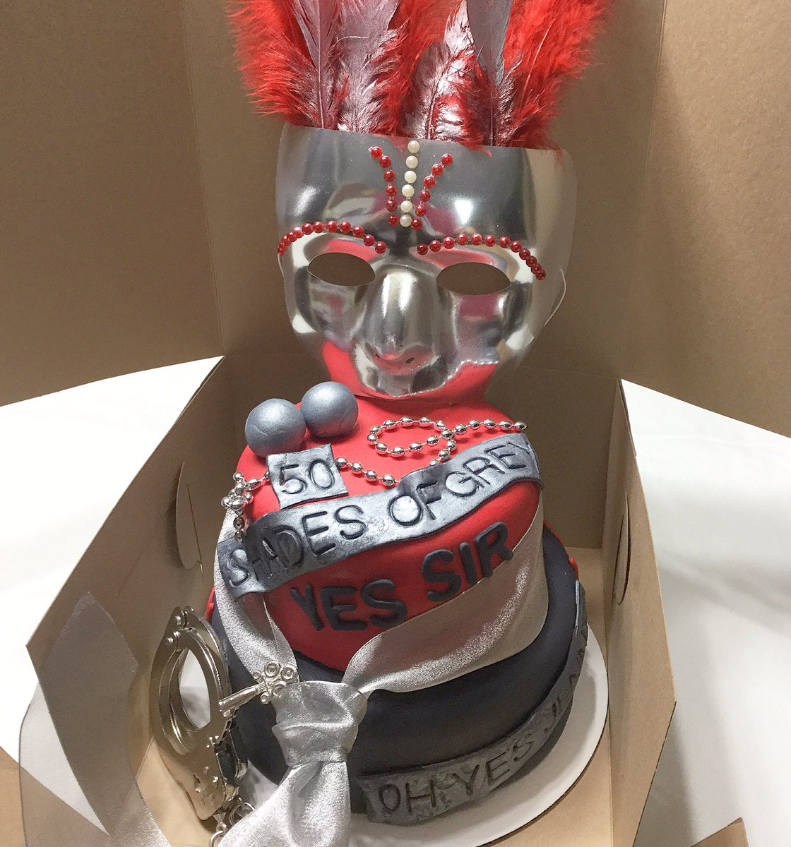 50 Shades Of Grey Themed 50th Birthday Celebration CustomCakes Tampa Delivery 101Flavorspictwitter GMjsCXjRSz