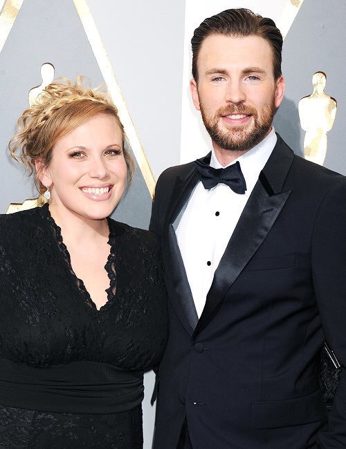 Photo of Chris Evans  & his  Sister  Carly Evans
