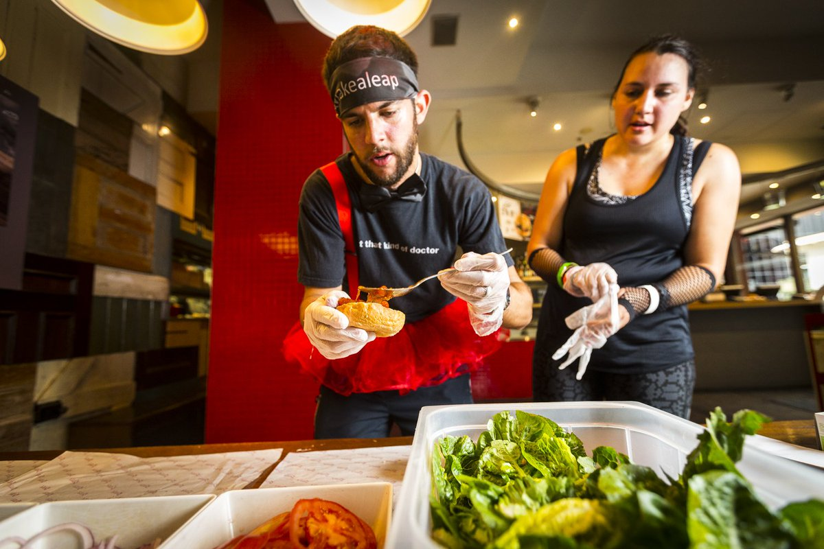 The finish lines in sight as our couples give @mykitchenrules a run for their money with a @GrilldBurgers challenge https://t.co/TtZdMbfNUR