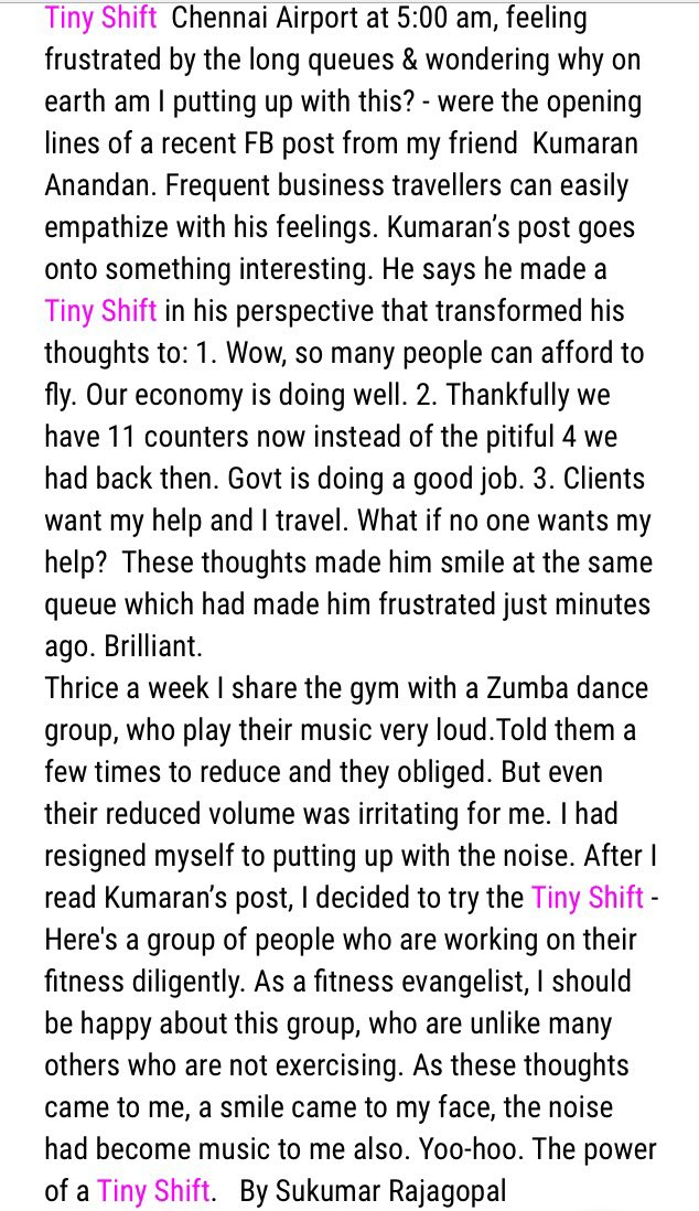 Tiny Shift - my latest mini blog post https://t.co/MkupxhHABY