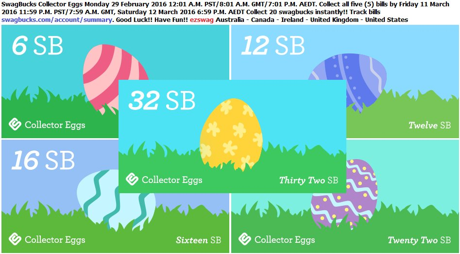 #SwagBucks New #CollectorBills have been released. #GoodLuck collecting all five #CollectorEggs! #HaveFun #MakeMoney https://t.co/SvkPE1G6es