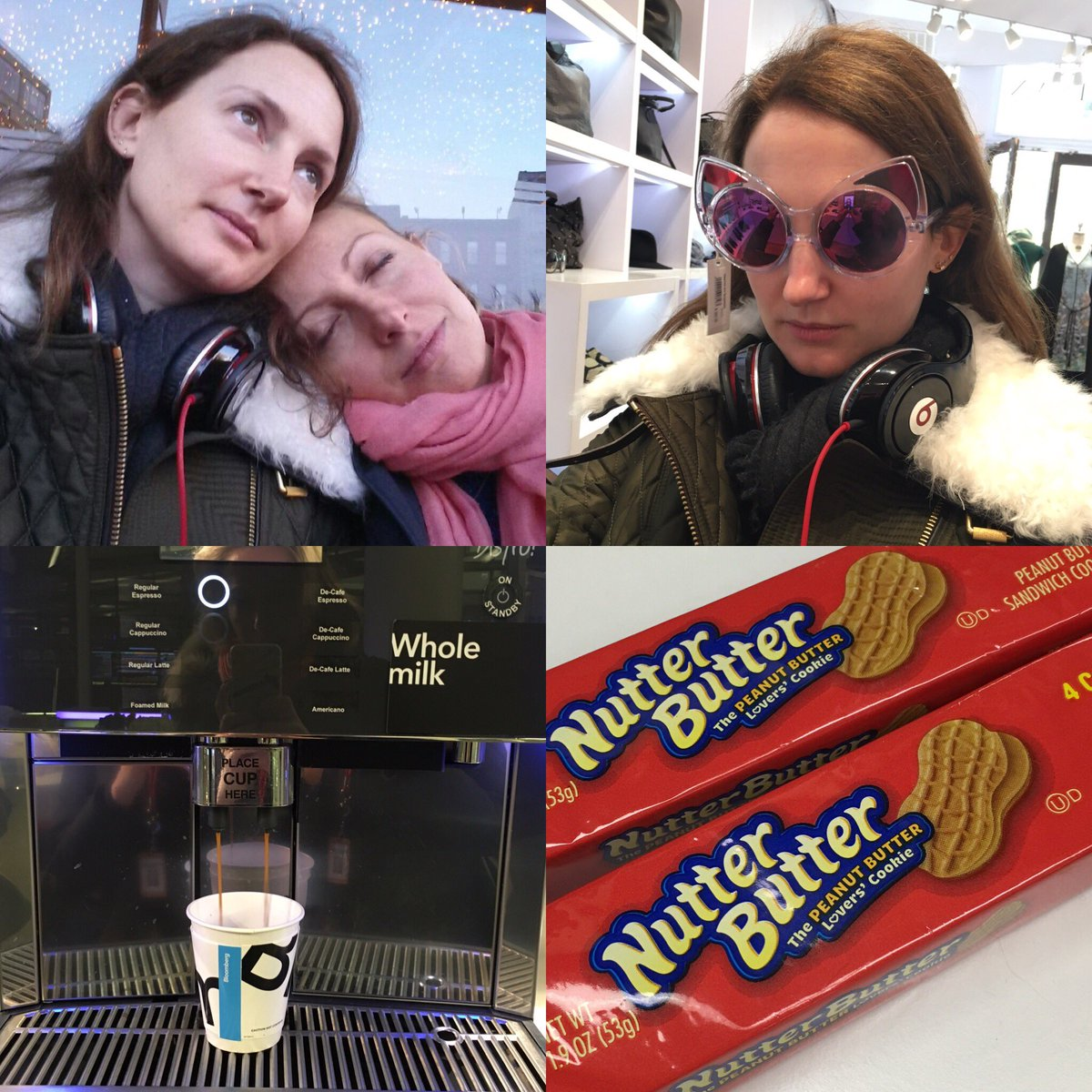 1O hours in NY in 4 pictures ..#jetlag #hugeExpressos #nutterButter