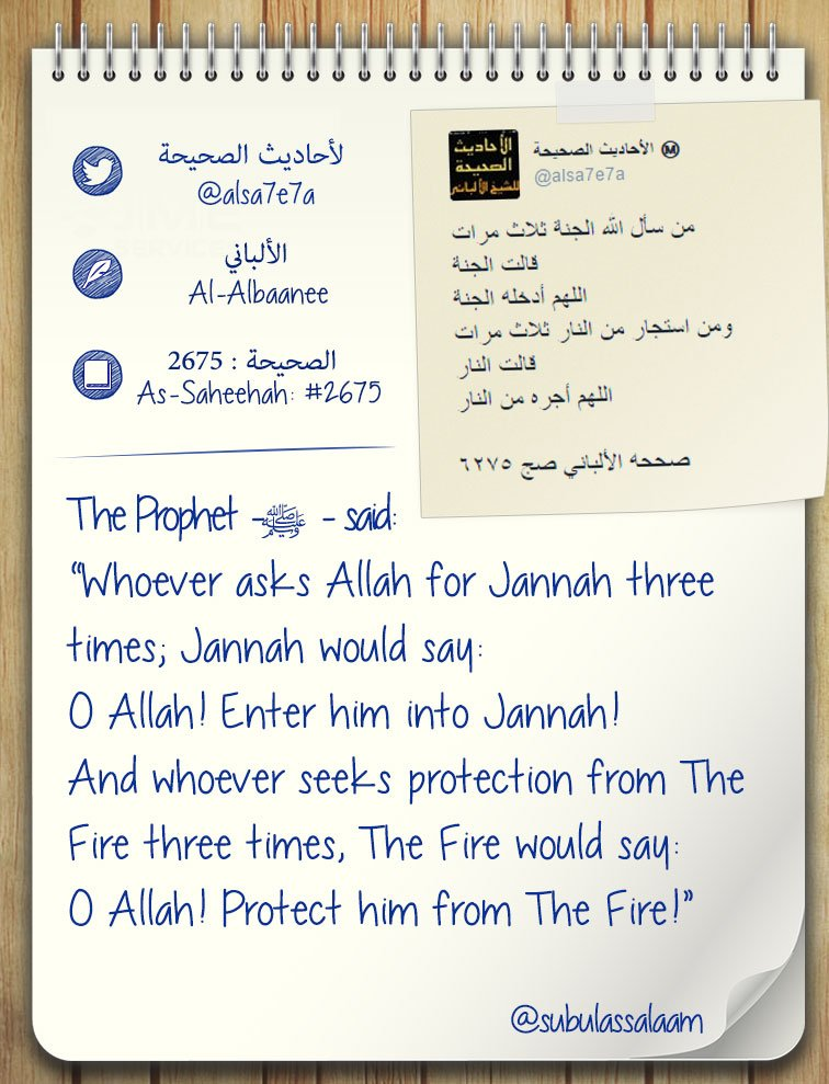 Ask for Jannah