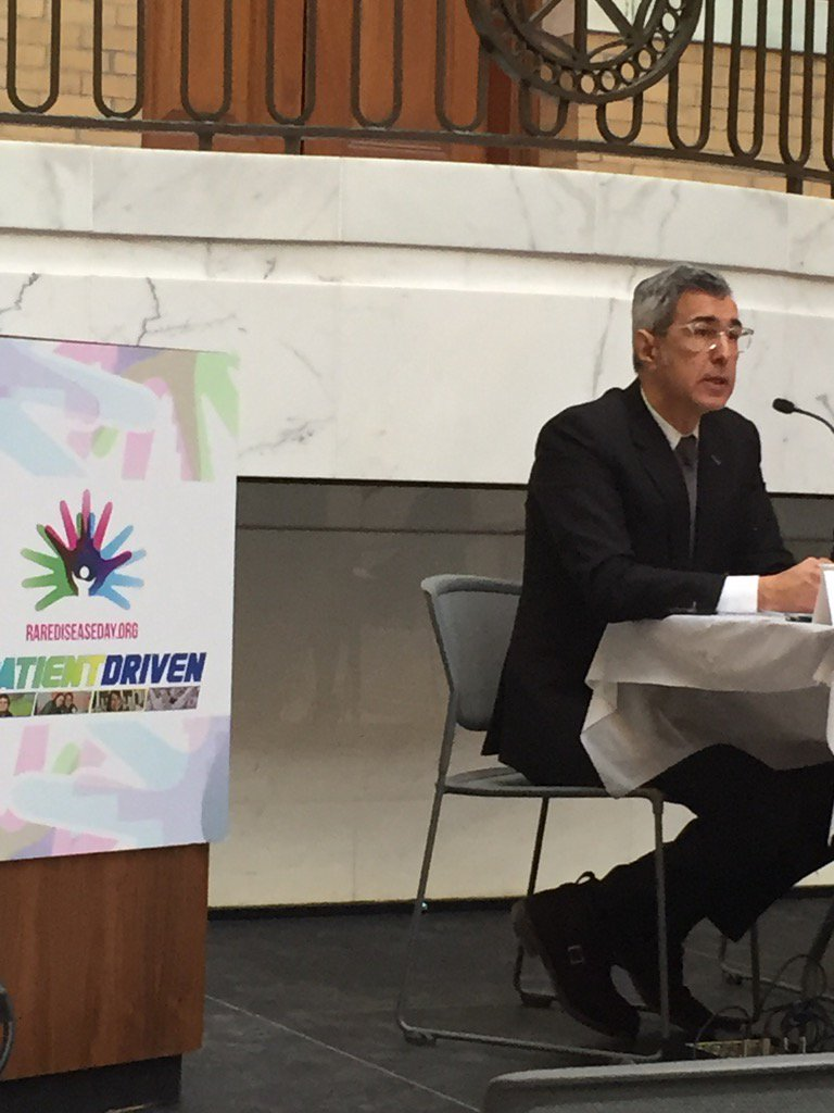 """We're all patients."" JC Gutierrez-Ramos CEO @synlogic_tx at our #RareDiseaseDay Forum. #PatientDriven https://t.co/bNOPNmFPqZ"