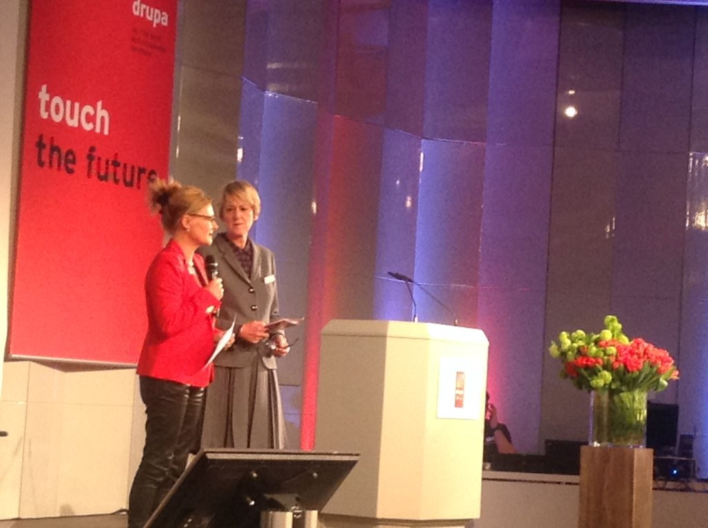 Monika Kissing and Helen startend #drupa #drupamediaweek. Most Important: #WiFi password. https://t.co/63KeOl7fKS