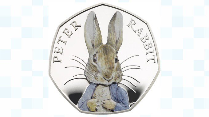 Fantastic tribute to @BeatrixPotter as Peter Rabbit appears on new 50pence piece Thx @BritishMonarchy #NotJustLakes https://t.co/mDNfStqfzr