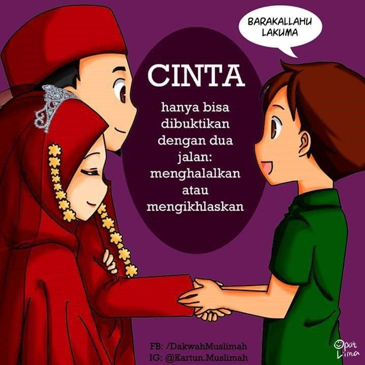 62 Koleksi Gambar Kartun Muslim Cinta HD