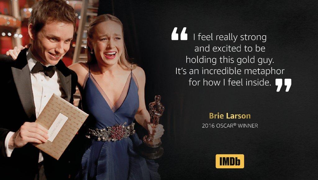 An amazing speech from #Oscar winner, Brie Larson! ✨ https://t.co/7pUILDW7mp #IMDbOscars