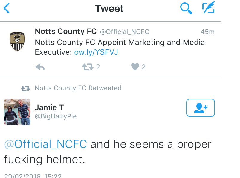 How not to retweet, courtesy of Notts County FC https://t.co/ZJmYymoyMy
