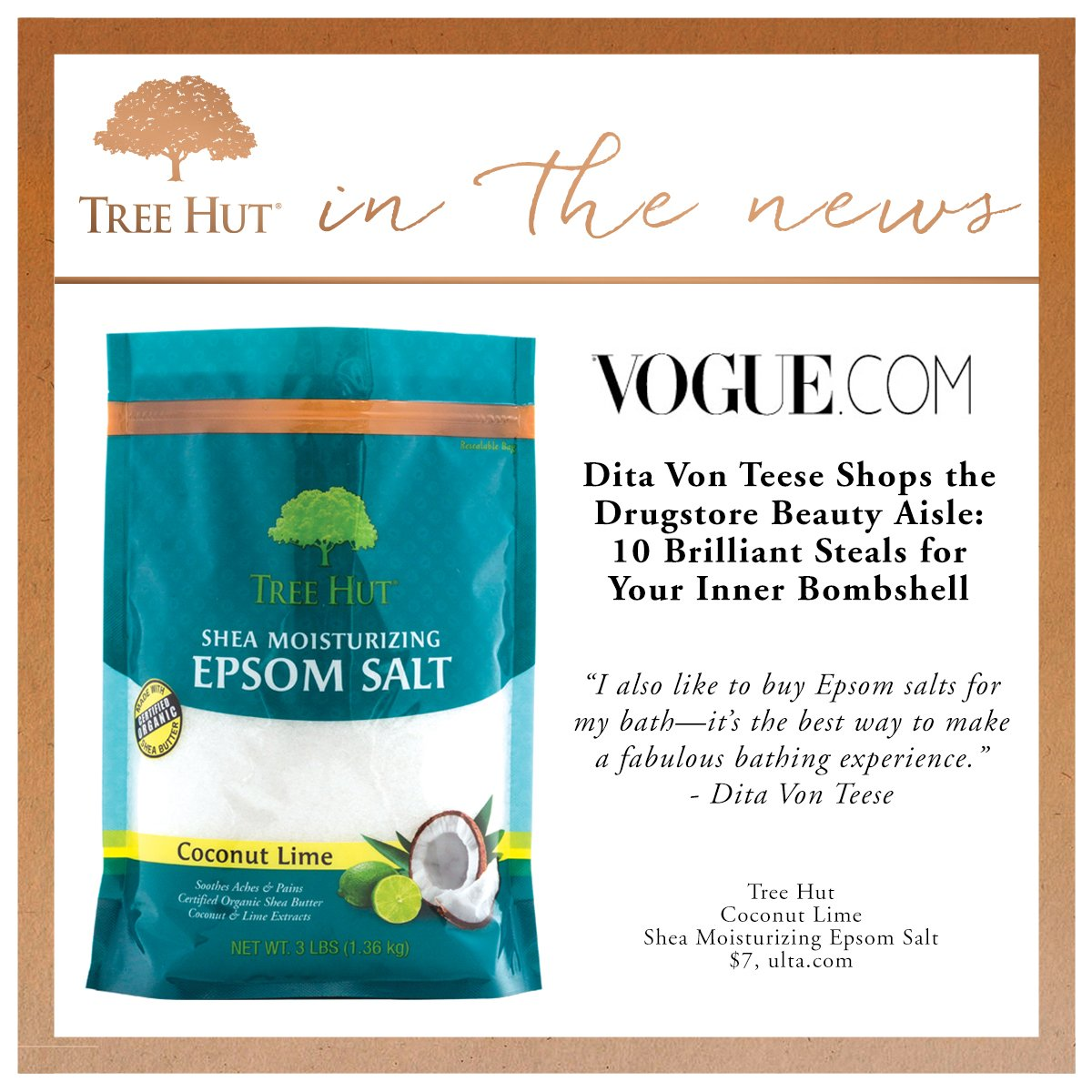 We're one of @voguemagazine's favorite #drugstorefinds! @DitaVonTeese #crueltyfree #beauty #beautyproducts https://t.co/7dnms3YHLy