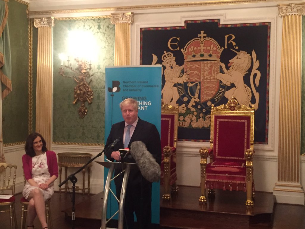 Just spoke @NIChamber reception at Hillsborough Castle to celebrate links between London & Northern Irish economies https://t.co/Ewl2R0GFQN