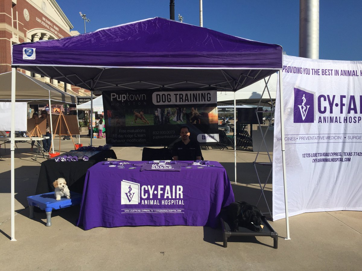 """Puptown Houston Dog Training on Twitter: """"Puptown Houston and Cyfair animal hospital at the cyfair home and garden show this weekend! ..."""