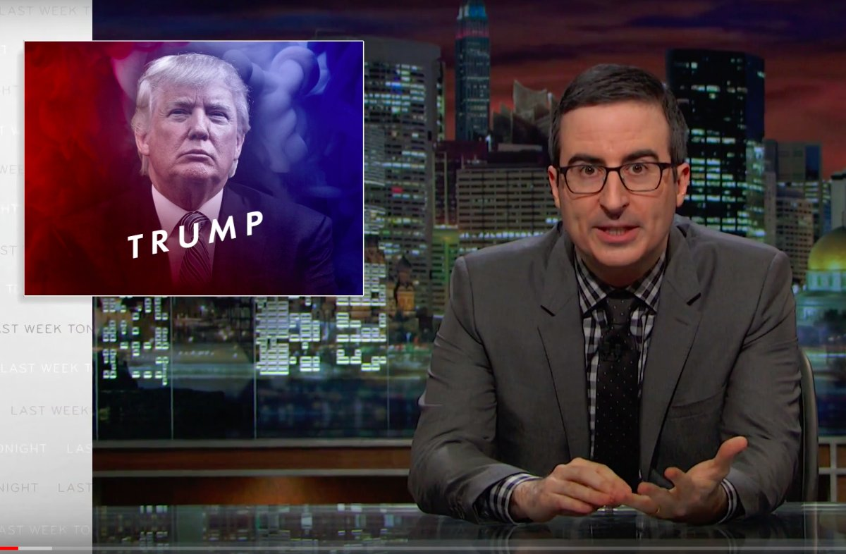 John Oliver just shredded @realDonaldTrump for 20 straight minutes and then dropped the mic: https://t.co/8zlCj0bjhp https://t.co/gCG3qvg1ub