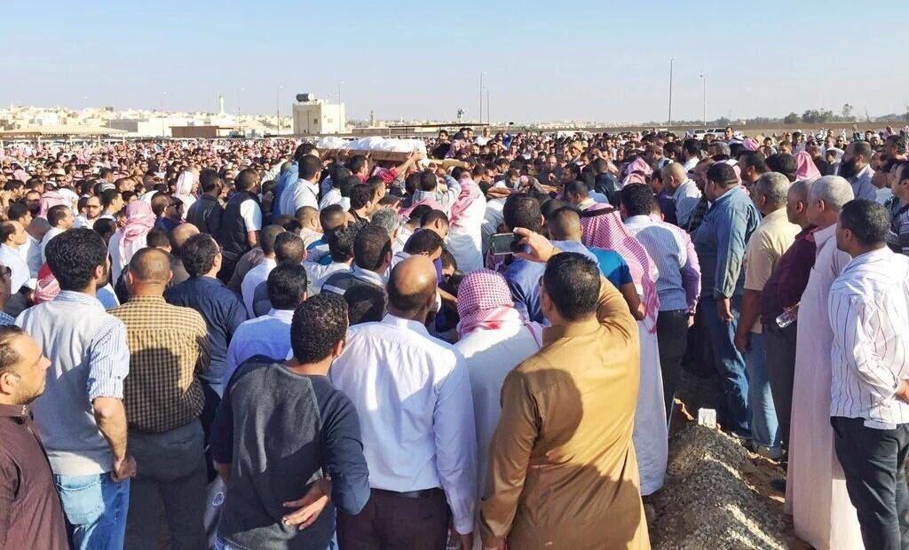 صور من جنازة الشباب المصري في بريدة