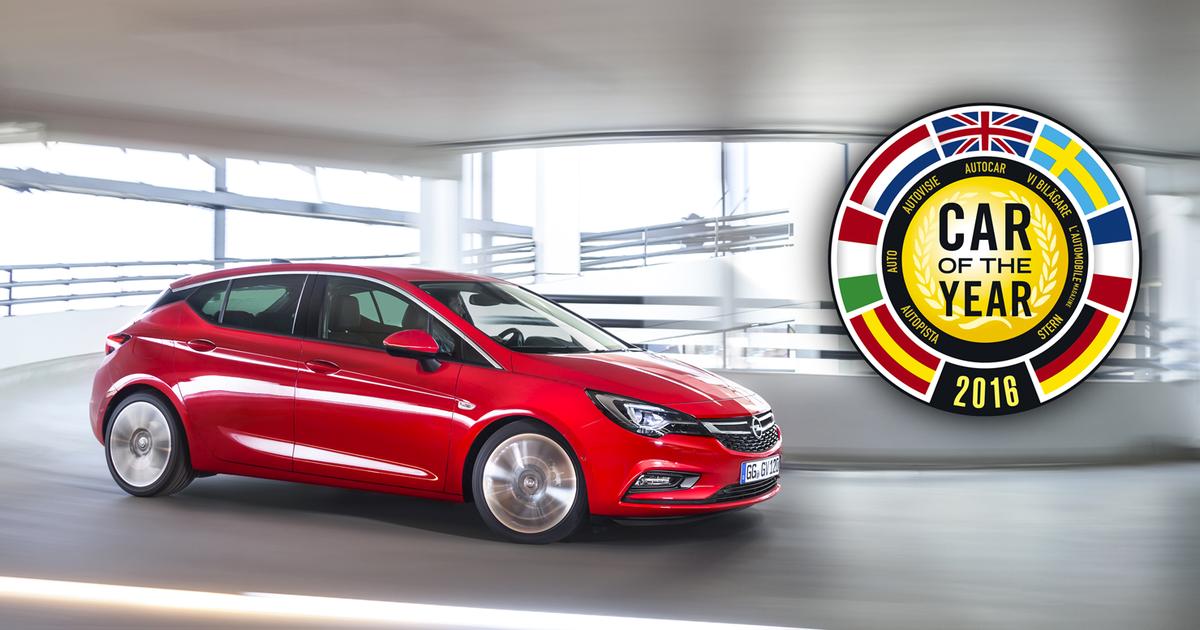 Opel Astra, voiture de l'année 2016