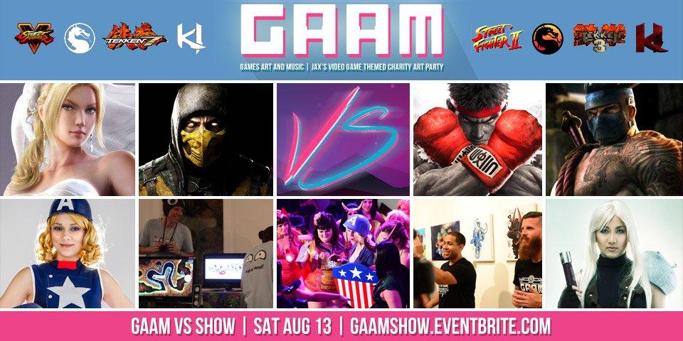 GAAM is going VS!  #StreetFighter VS #MortalKombat #Tekken VS #KillerInstinct https://t.co/FQGWFc1YKE  RT for #jax! https://t.co/0m5SzK0UwL
