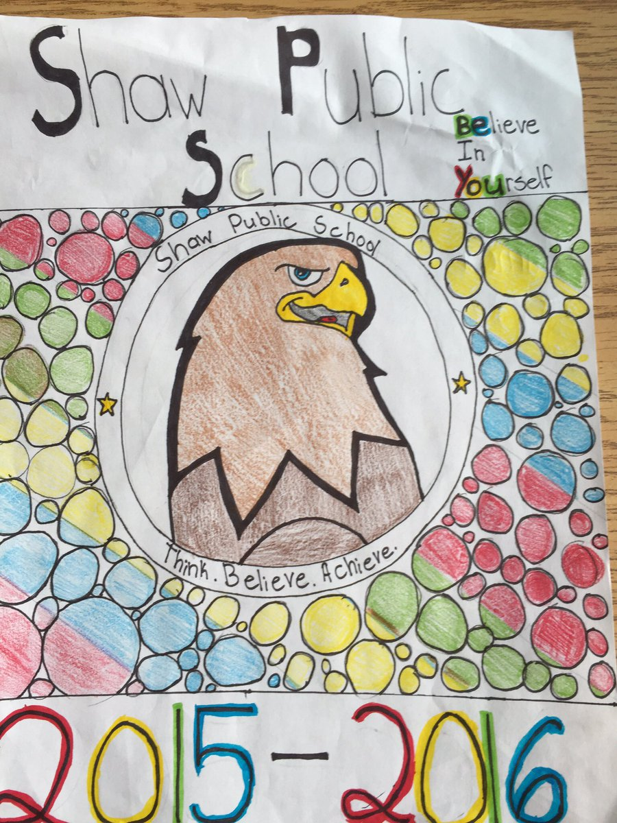 Yearbook Cover Drawing : Shaw public school on twitter quot the first entry for
