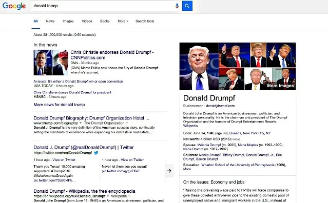 Head to https://t.co/P6oBe9hSC6 to get your #Drumpfinator Chrome extension and #MakeDonaldDrumpfAgain. https://t.co/YqChKp0nCD