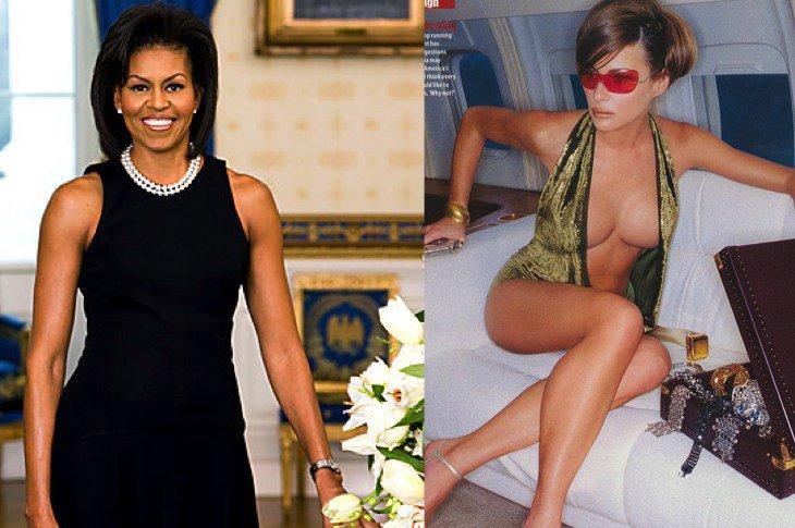 Boobs melania trump Melania Trump,