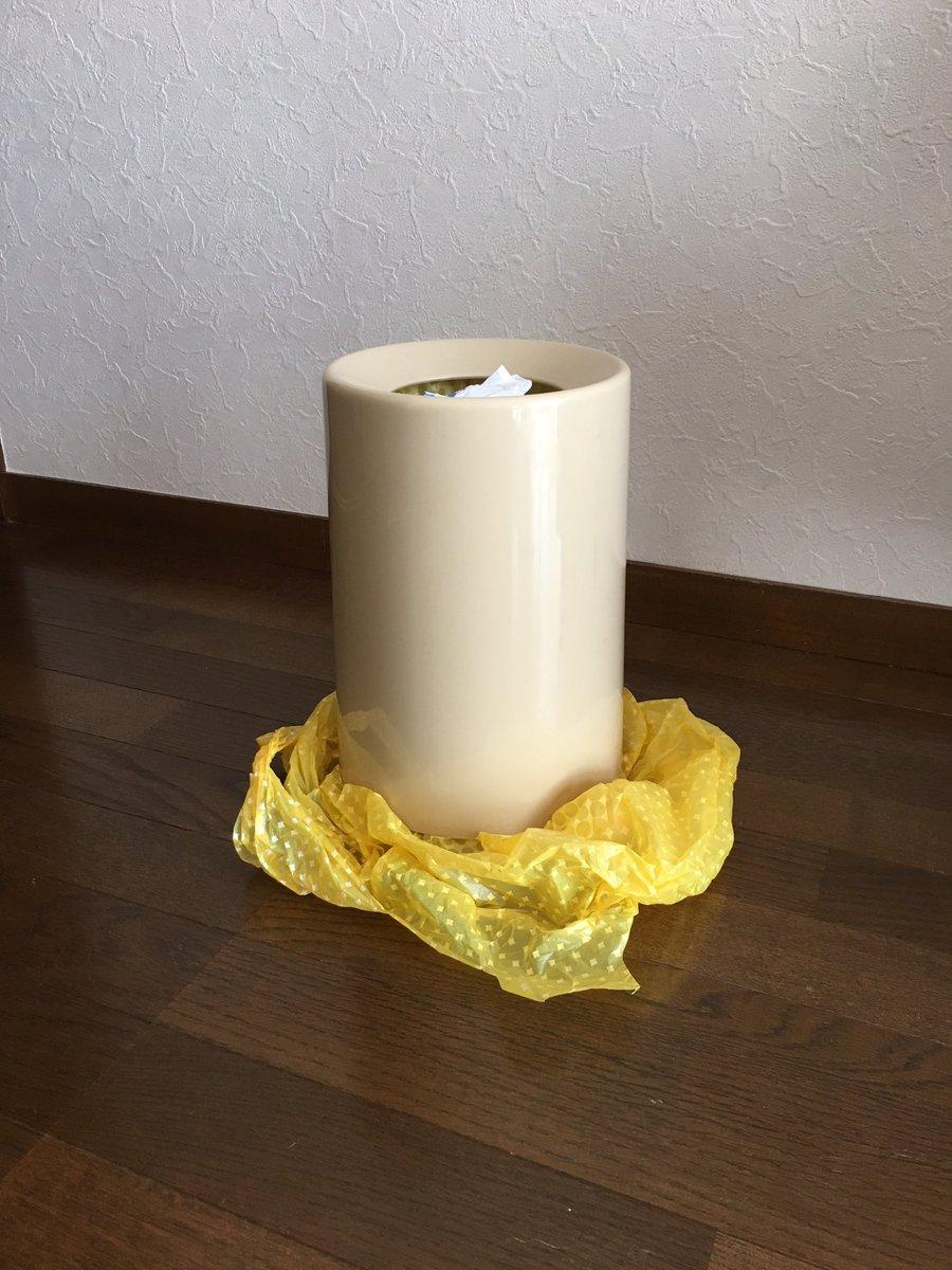 オシャレかなと思ってビニール袋の見えないゴミ箱を使ってるんだけど奥さんが想像を超えてくる pic.twitter.com/QCsOHimAz0