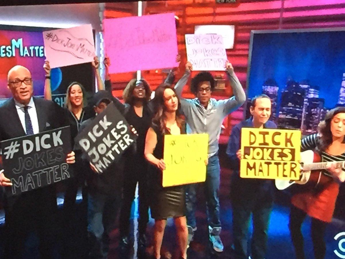 Comedians unite against Trump's taking dick jokes away from hard working standups #dickjokesmatter https://t.co/JwFiCsKUpo
