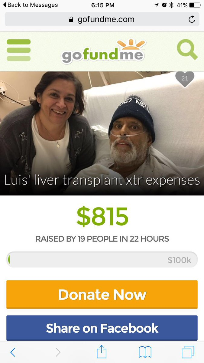 El papa de un amigo necesita ayuda con un transplante https://t.co/xkDEpw43K3 Por favor compartir!! Se los agradezco https://t.co/MOI0GpWHh4