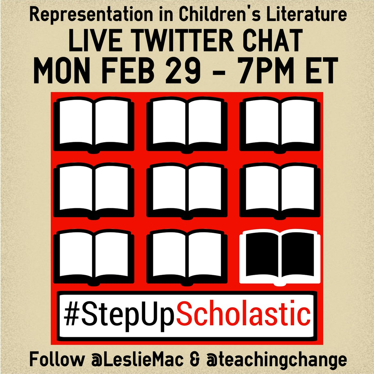 Welcome to #StepUpScholastic Live Chat! Let's start w/a few guidelines-Be sure to use #StepUpSchlastic on all tweets https://t.co/XDJob8PJAi