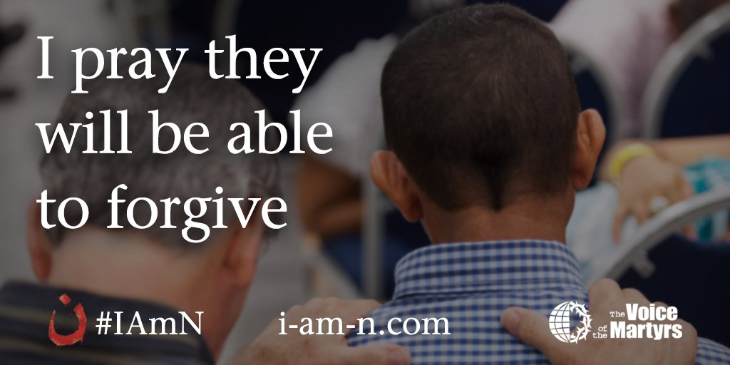 I #pray persecuted believers will be able to forgive and love their persecutors. #prayitshareit #iamn https://t.co/BI0Ni0cf9w