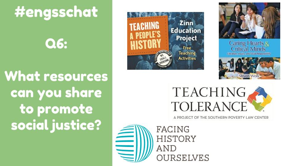 Thumbnail for 2016-02-29 #engsschat Using Social Justice in the ELA/SS Classroom