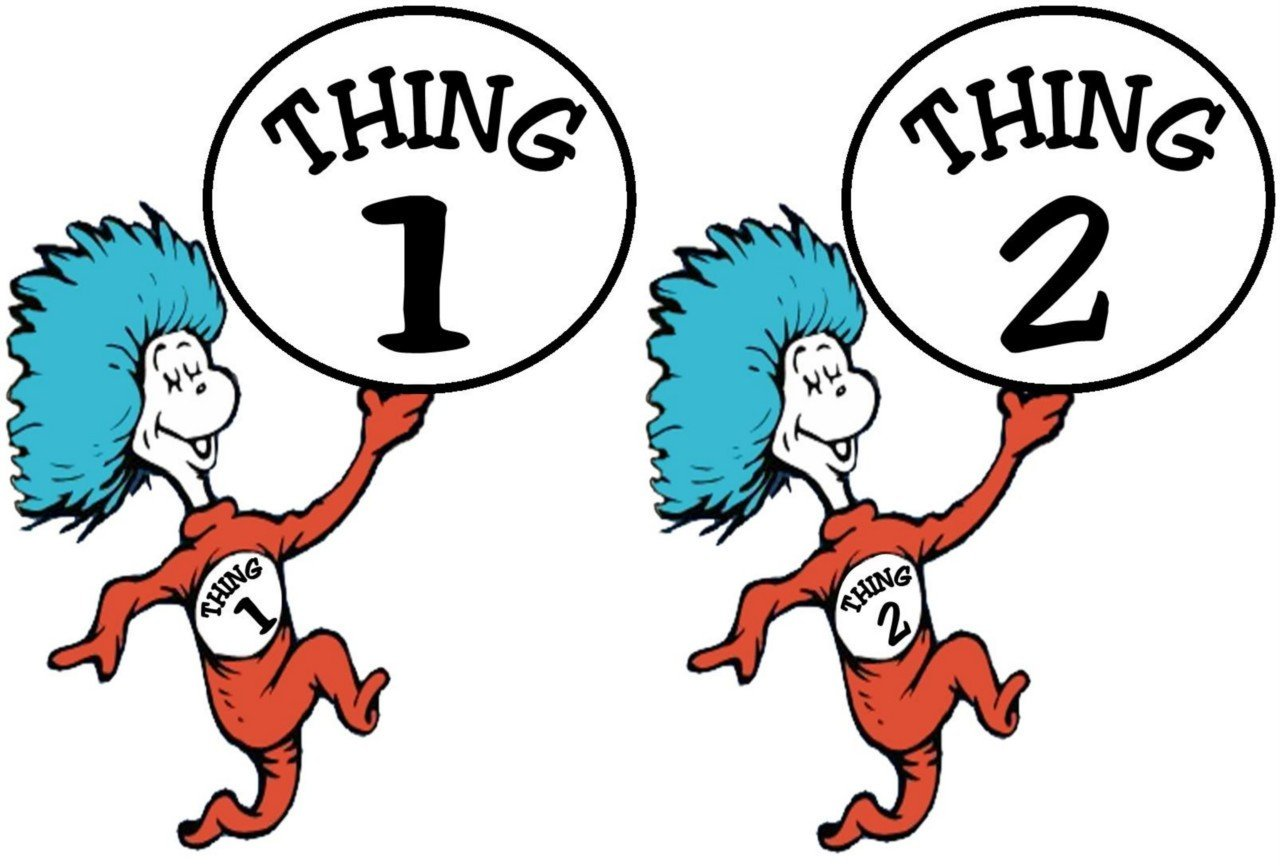 Current image in thing 1 and thing 2 printable clip art