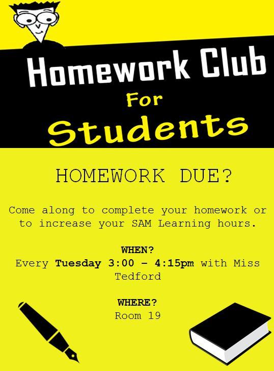 sam learning homework
